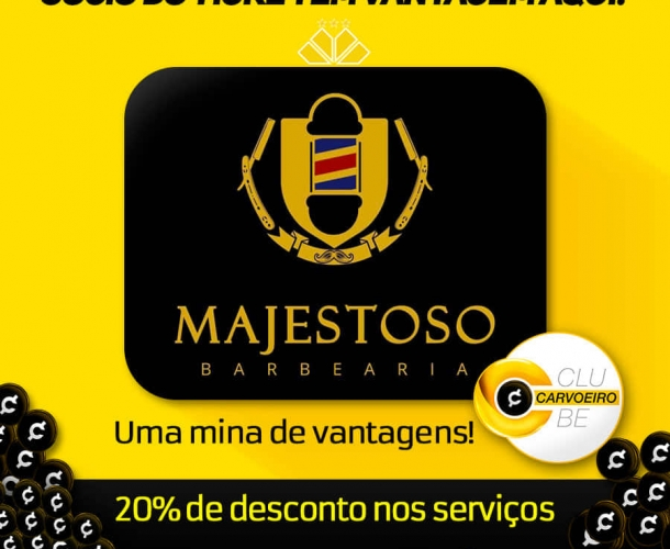 Majestoso Barbearia entra no Clube Carvoeiro